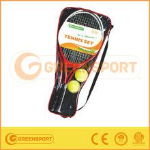 tennis set,steel/alu tennis racket,carry bag GSBSD4