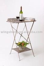metal outdoor use garden table/garden rack