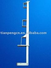 Steel scaffolding guard rails