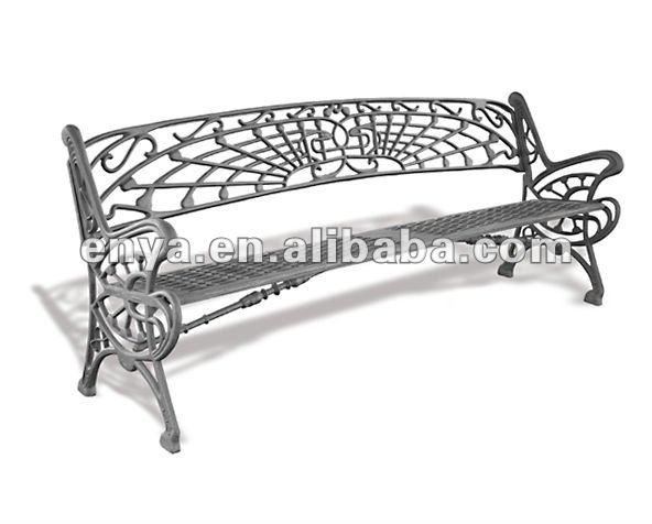 banco de jardim metal:Mobília ao ar livre, Banco de jardim em ferro fundido-Cadeiras de