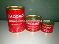 Halal enlatados e molho de tomate, jacomo de tomate