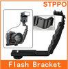 Camera Bracket Flash bracket with Two Hot Shoe Slots for DSLR Camera