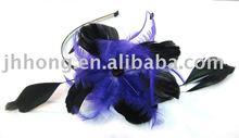 fashion purple Feather Headband/hair accessory