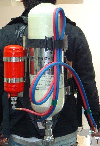 mochila de gas de oxígeno traje de corte antorcha