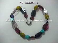 Shinning attractive jewelry necklace with big beads