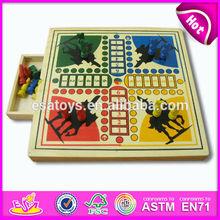 2015 New wooden horse chess for kids,high-grade chess set for children,Best selling Wooden chess set for indoor games WJ278478