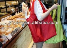 fashion foldable supermarket promotional nylon shopping bag