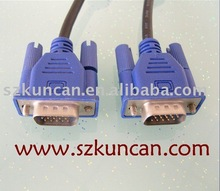 high quality VGA Cable: 15PM - 15PM Cable 28AWG 30AWG bare copper with braid and shielding used for computer and mutimedia 1.8m