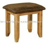 Rizhao Harmony leather pad solid oak stool