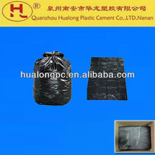Large black plastic garbage bag