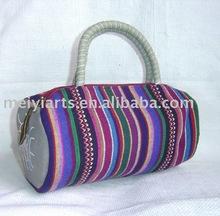 MEIYI-wholesale designer handmade 100% cotton cosmetic bag,ladies tote bag,double handle bag on sale