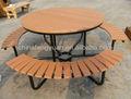Al aire libre mesa de picnic, mesas de jardín, banco de picnic y mesa