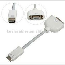 Super Mini DVI to VGA Cable Monitor Adapter Video Cable f