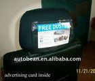 custom car headrest cover, custom headrest cover,taxi headrest advertising