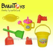 Plastic beach toy, beach bucket set and spades