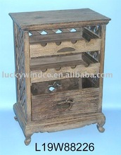 antique dark wine storage cabinet furniture shelf