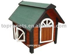 wood pet kennel