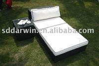 Outdoor rattan sofa bed/ Wicker furniture SV-2903H