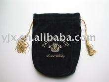 velvet pouch drawstring with tassles
