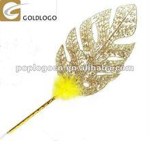 Novelty Jumbo Gold Leaf Ball Pen for Promotion