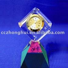 Elegant crystal handicraft, Crystal clock