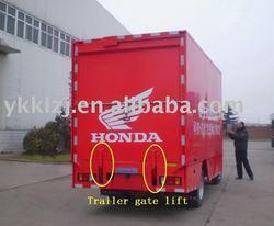 trailer gate helper for motorcycle trailer