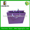Purple color paper bag shopping bags for clothes