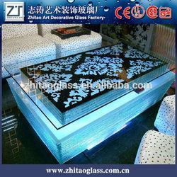 LED illuminated glass acrylic bar counter design