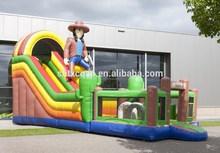 clooest inflatable cowboy slide for sale