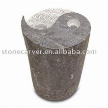 Garden Yin Yang Pillar Stone Fountain