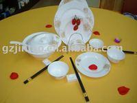 bone china / porcelain dining ware super white dinner set hotel ware, dishes dinner set/round table ware, opal ware dinner set