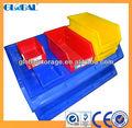 De rangement en plastique bin pour rayonnages à palettes/économique bacs de rangement en plastique
