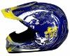 YOHE ECE and DOT approved fibergalss cross helmet 608-shine