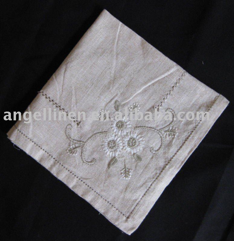 Servilletas de boda con bordado y vainica