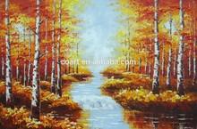 Handmade Palette Knife oil painting autumn landscape