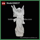 white marble angel sculpture