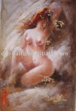hot sexi photo image nude girl body art oil painting