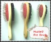 2013 professional wooden handle double use pet hair brush