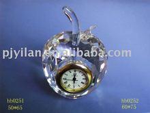 fashionable crystal apple shape clock