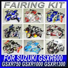 GSX fairing kit GSXR750 GSXR600 fairing 2001-2003 BLUE and WHITE fairing