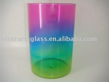 color glass candle holder for home decoration