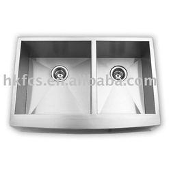 AP3320BL Apron Double Bowl Kitchen Sink