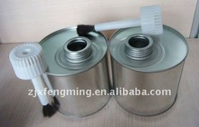 500ml PVC adhesive can with plasic cap attaching brush