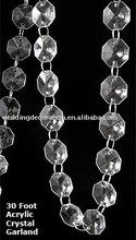 Clear Wedding Acrylic Crystal Garland Strands