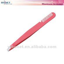 G271SP LFBG qualified Eyebrow Tweezer w/ Comb