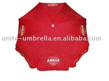 180cm beach parasol with digital transfer printing polyester umbrella