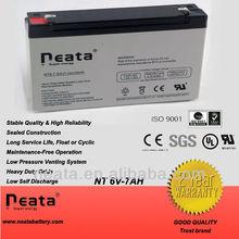 AGM /SMF/ VRLA /SLA/lead acid battery 6V 7AH