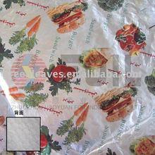 Laminated Hamburger Wrapping aluminium foil Paper