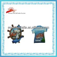 polyresin souvenir fridge magnets with sea scenery