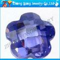 Flor roxa forma pedras de zircônia cúbicos de Zhengyong jóias